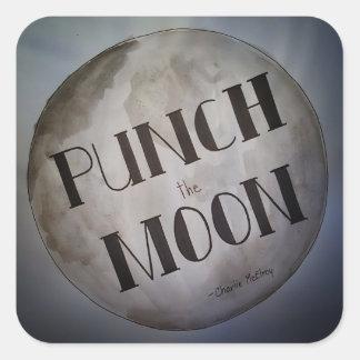 Lochen Sie die Mondprodukte Quadratischer Aufkleber
