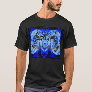 Locrian Psy-FI Metalcore schwarzes T Logo T-Shirt