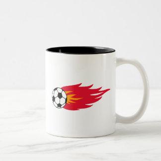 Lodernde Fußball-Ball-T - Shirts und Geschenke Kaffeetasse