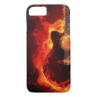 Lodernde Gitarre iPhone 8/7 Hülle