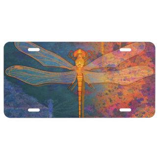 Lodernde Libelle US Nummernschild
