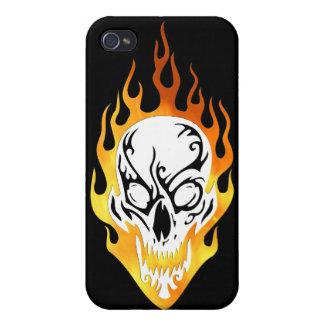 Lodernde Schädel-Tätowierung iPhone 4/4S Case