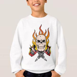 Lodernde Tätowierung des Schädel-318 Sweatshirt