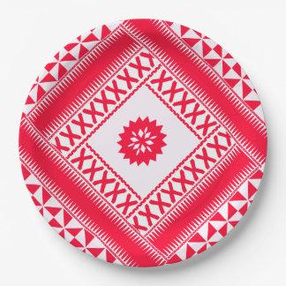Lodernder ethnischer Pappteller
