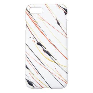 Lodernder lederner Farben-Spritzer-Telefon-Kasten iPhone 8/7 Hülle