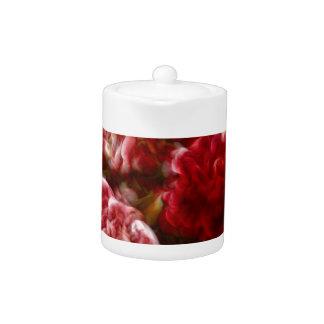 Lodernder roter Pfingstrosen-Blumen-Blumenstrauß