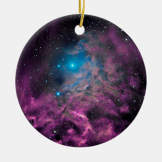 Lodernder Stern-Nebelfleck Rundes Keramik Ornament