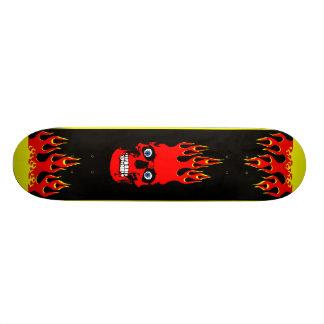 Loderndes Schädel-Skateboard 20,1 Cm Skateboard Deck