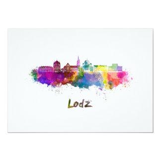 Lodz skyline im Watercolor 12,7 X 17,8 Cm Einladungskarte