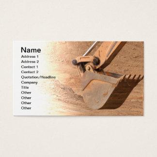 Löffelbaggerteil Baugeräte Visitenkarte