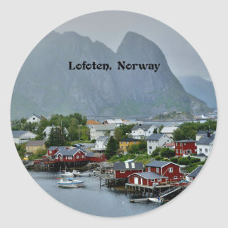 Lofoten Inseln, Norwegen Runder Aufkleber
