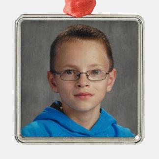 Logan 2016 quadratisches silberfarbenes ornament