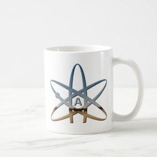 Logidea atheistisches Atomsymbol Kaffeetasse