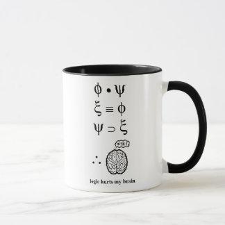 Logik verletzt meine Gehirn-Tasse Tasse