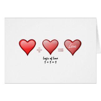 Logik von Liebe eine plus den einen Tag des Karte