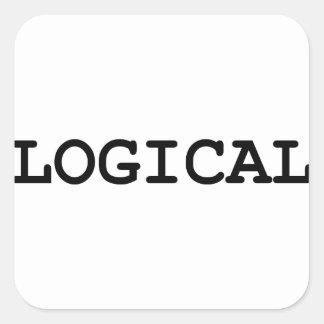 logisch quadratischer aufkleber