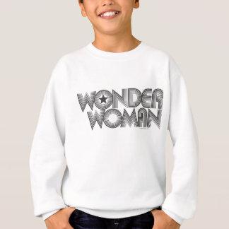 Logo 3 der Wunder-Frauen-B&W Sweatshirt