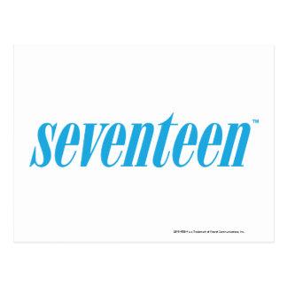 Logo-Aqua siebzehn Postkarte
