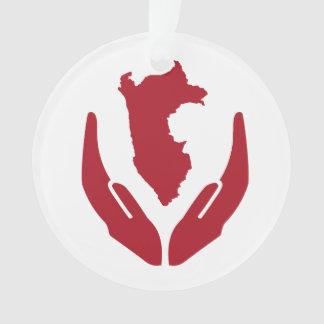 Logo DBs Peru mit Text-an Rückseite Ornament