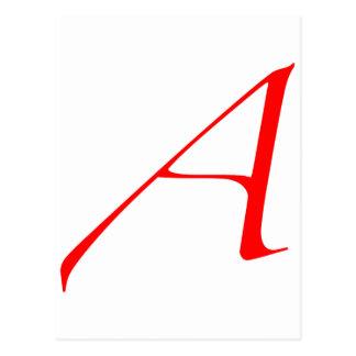 """Logo des Atheisten """"A"""" Postkarte"""