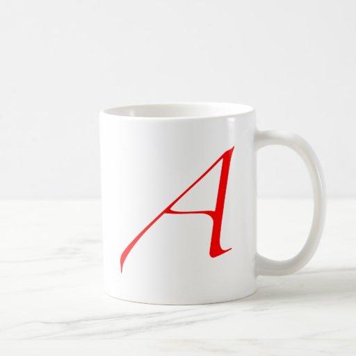 """Logo des Atheisten """"A"""" Kaffee Tassen"""