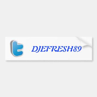 Logo des Twitters T Autoaufkleber
