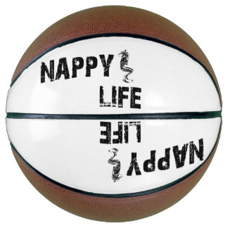 Logo des Windel-Leben-Basketball-w/Black Basketball
