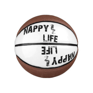 Logo des Windel-Leben-Minibasketball-w/Black Basketball