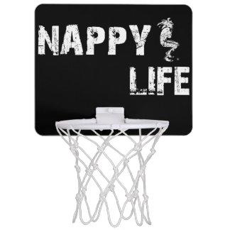 Logo des Windel-Leben-Minibasketball-Ziel-w/White Mini Basketball Netz