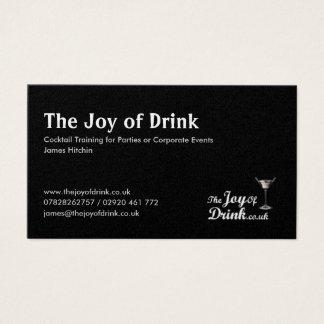 Logo, die Freude am Getränk, Cocktail-Training für Visitenkarte