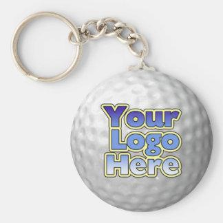 Logo-Golfball-Schlüsselkette Standard Runder Schlüsselanhänger