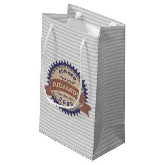 Logo-Grau-Streifen Kleine Geschenktüte