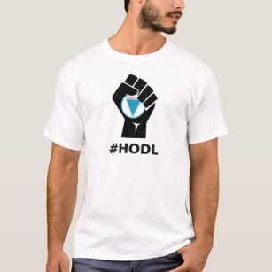ed216db3349f05 Logo HODL Kante-XVG  Schwarzes T-Shirt