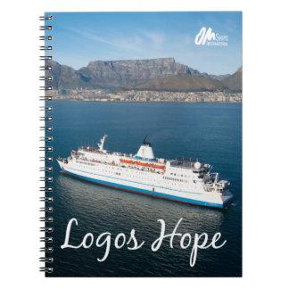 Logo-Hoffnung in Cape Town-Notizbuch Spiral Notizblock