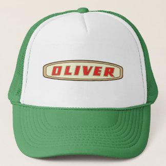 Logo-Hut der Bauer Oliver-Bauernhof-Gartentraktor Truckerkappe