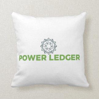 Logo-Kissen des Power-Hauptbuch-POWR Kissen