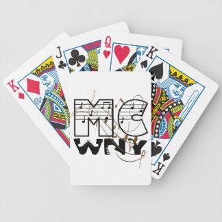 Logo Lux WNY Bicycle Spielkarten