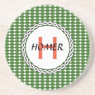 Logo mit grünen Tupfen Untersetzer