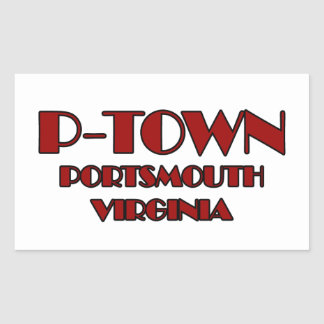 Logo P-Stadtportsmouth Virginia Rechteckiger Aufkleber