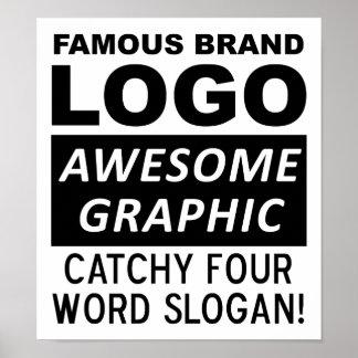 Logo-Slogan-lustiges Plakat