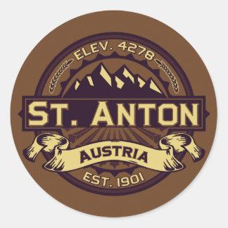 Logo St. Anton Runder Aufkleber