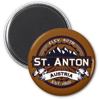 Logo St. Anton Runder Magnet 5,1 Cm