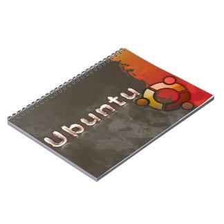 Logo Ubuntus Linux u. Kreis der Freunde Spiral Notizblock