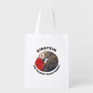 Logo von Einstein der sprechentexan-Papagei Wiederverwendbare Einkaufstasche