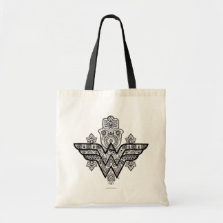 Logo Wunder-Frauen-geistiges Paisleys Hamsa Budget Stoffbeutel