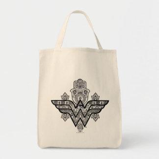 Logo Wunder-Frauen-geistiges Paisleys Hamsa Einkaufstasche
