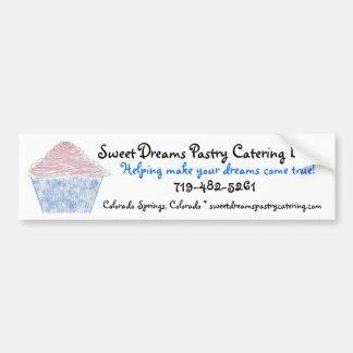 logoc, süße Traum-Gebäck-Catering LLC, Helpin… Autoaufkleber