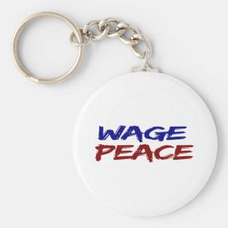 Lohn-Frieden Standard Runder Schlüsselanhänger