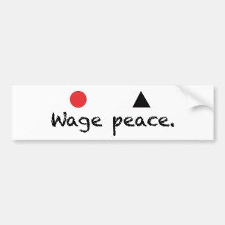 Lohn-FriedensAutoaufkleber Autoaufkleber