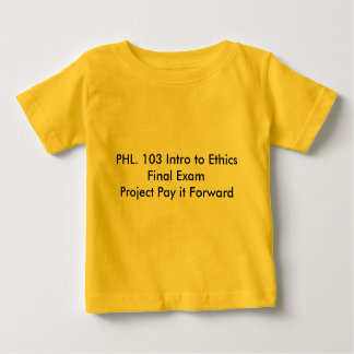 Lohn Phl.103 projektiert es vorwärts Sammlung Baby T-shirt